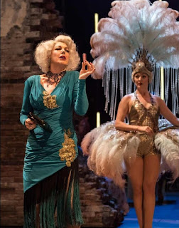 Geraldine Fitzgerald as Solange & Sarah Marie Maxwell as young Solange, Follies, National Theatre (Photo Johan Persson)