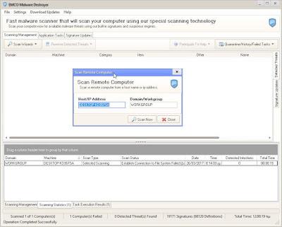 EMCO Malware Destroyer : Βρείτε και διαγράψτε κακόβουλο λογισμικό σε υπολογιστές στο δίκτυό σας