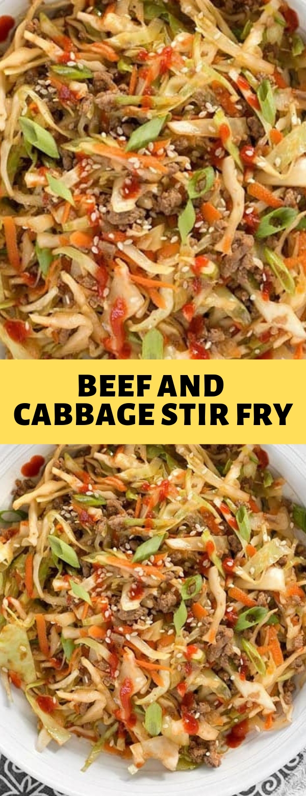 BEEF AND CABBAGE STIR FRY #beef #cabbage #lowcarb