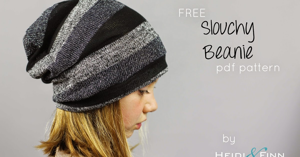 e6eafed867c HeidiandFinn modern wears for kids  Slouchy Beanie hat - FREE pattern for  kids clothes week