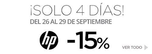 Mejores ofertas ¡Solo 4 días! -15% HP de El Corte Inglés septiembre 2019