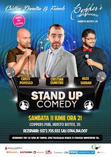 Stand-Up Comedy Sambata 11 Iunie Bucuresti