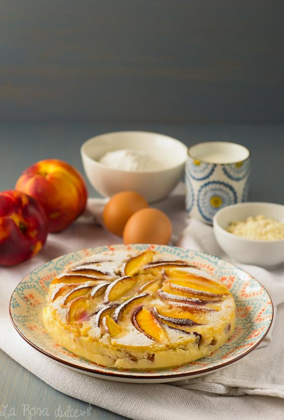 Flognarde de nectarinas sin gluten y sin lactosa