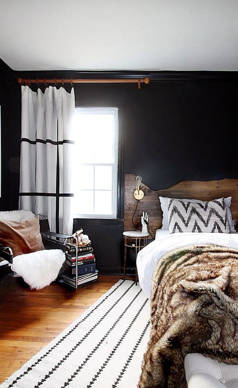 A modern bedroom makeover
