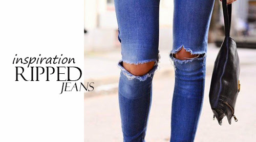 Inspo Avenue-Ripped Jeans