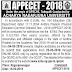 APPECET-2018 Notification, Online Application Submission