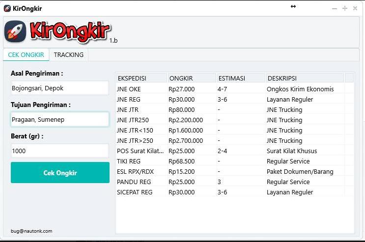 Tools Cek Ongkos Kirim Ongkir Cocok Untuk Kamu Online Shoppers Free Download