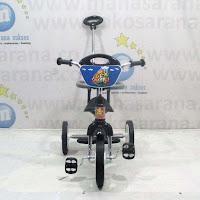 Sepeda Roda Tiga BMX PMB 921 Safari Sandaran Pengaman Tongkat Kemudi Chrome