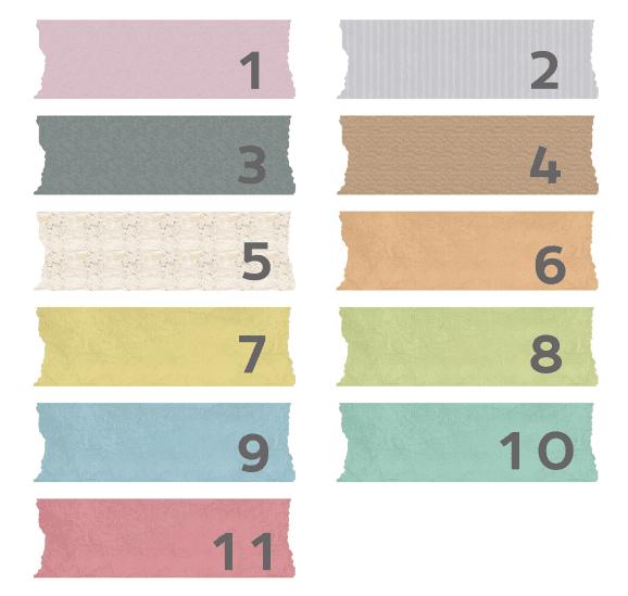 Washi-tape digital con texturas para descargar gratis y usar en tu blog como fondo de títulos