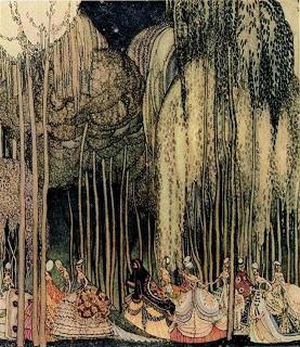 watercolor Twelve Princesses on the Way to the Dance by Nieslen