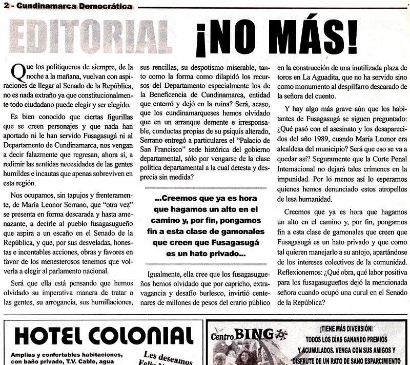 Octubre 2011 for Ejemplo de una editorial de un periodico mural