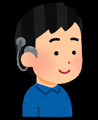 人工内耳を付けた人のイラスト(男の子)