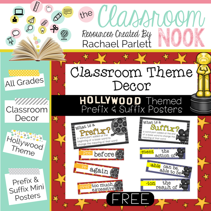 Classroom Design:  Creating a Hollywood Themed Classroom
