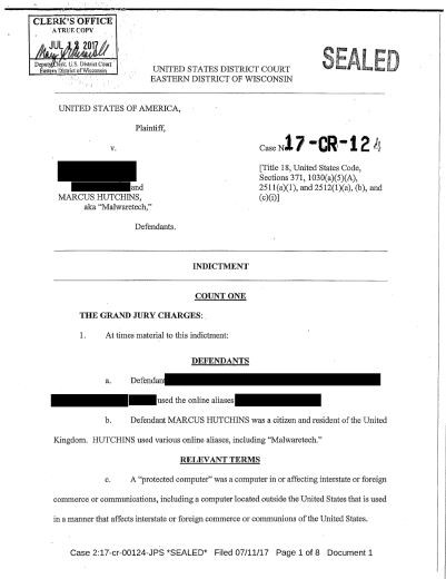 Image Attribute: Vice published his indictment online and made it available on DocumentCloud