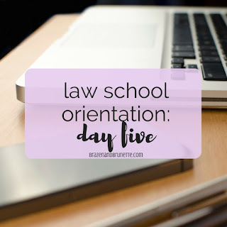 What To Expect At Law School Orientation. prepare for law school orientation. what to wear to law school orientation. what to bring to law school orientation. what to expect at law school orientation. new law students. law school blog. law student blog. law school blogger. law student blogger. | brazenandbrunette.com