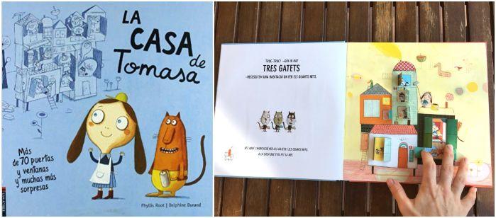 libros infantiles cuentos con pestañas, solapas, ventanas, La casa de Tomasa