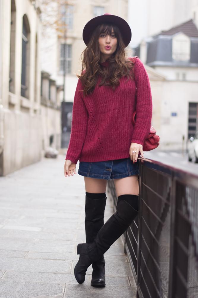 博客 ,巴黎,Streetstyle,在户外见面,秋天的样子,舒适