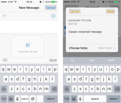step2-2 How To Share Voicemails On iOS 9 iPhone In Two Steps Apps