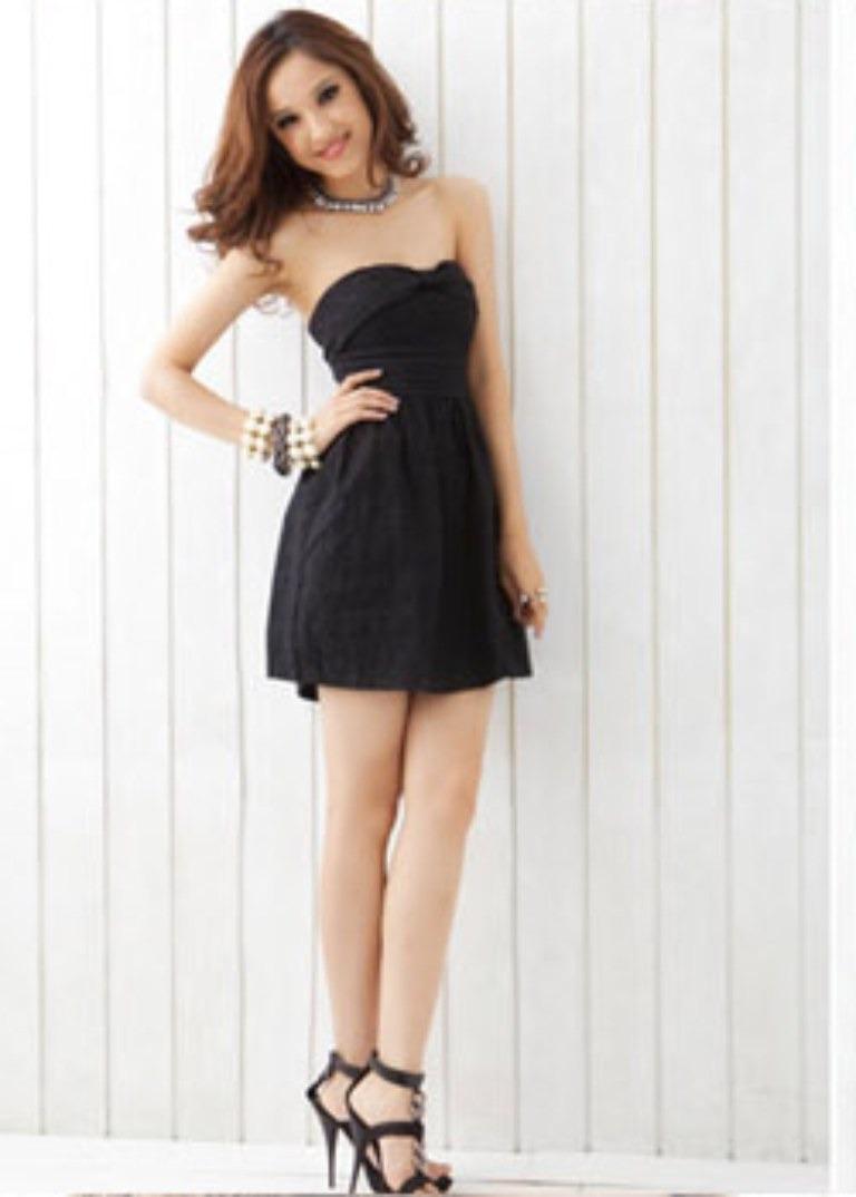 dc608cab93 Vestidos y Accesorios de Moda  Lindos Vestidos de Strapless color Negro