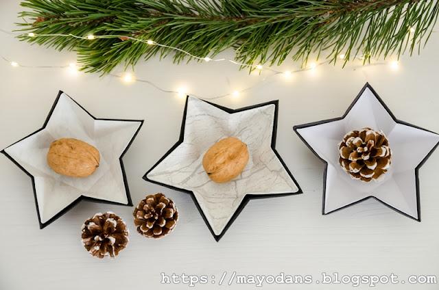 weihnachtliche Papier-Sternenschale