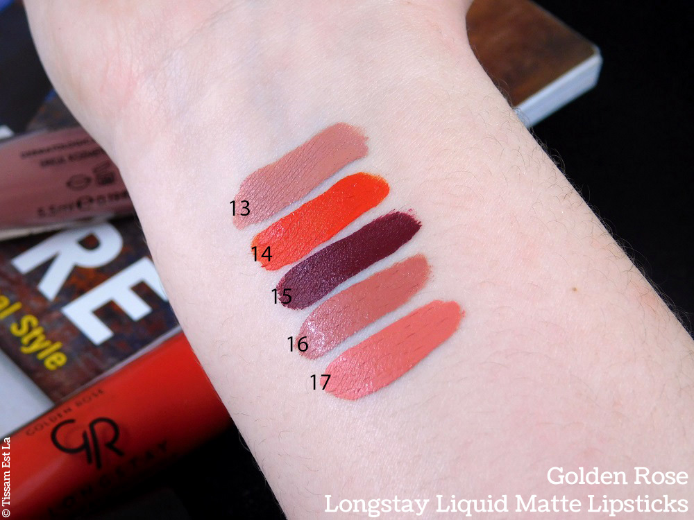 Golden Rose | Longstay Liquid Matte Lipsticks 5 New Shades Review & Swatches - Avis