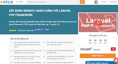 AnonyHome Chia sẻ khóa học xây xựng website hoàn chỉnh với Laravel - UNICA trị giá 749k
