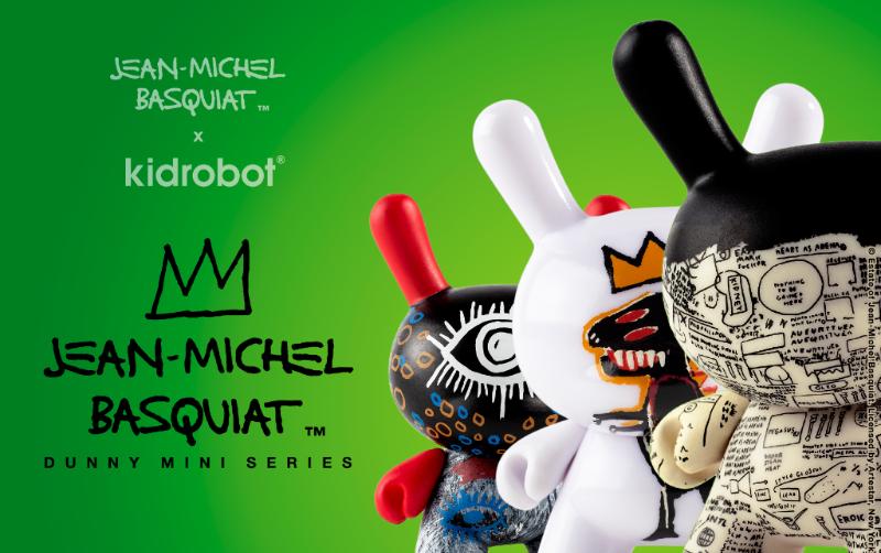 Jean Michel Basquiat X Kidrobot Dunny Art Figure Series Launches
