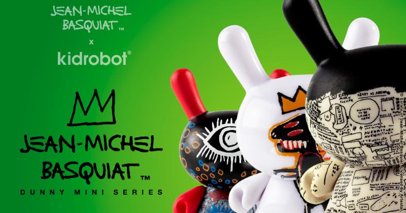 Jean-Michael Basquiat Dunny Mini Series by Kidrobot Gold Ideal