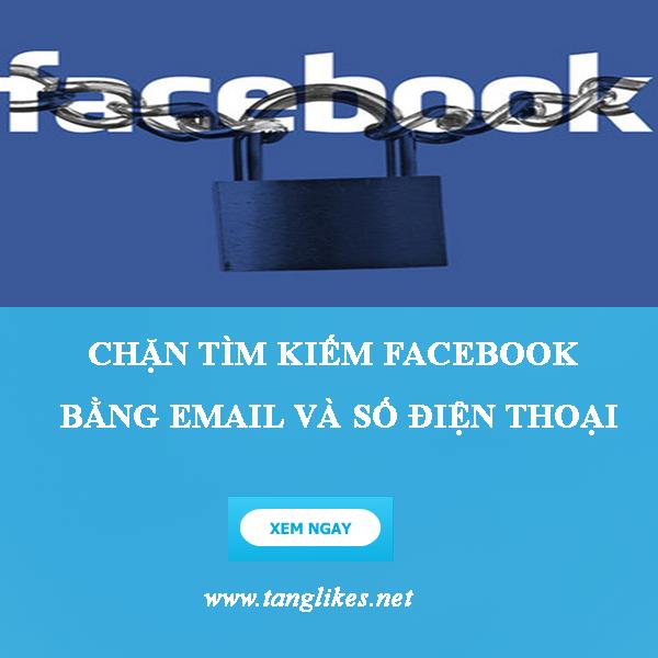 Chặn tìm kiếm tài khoản facebook