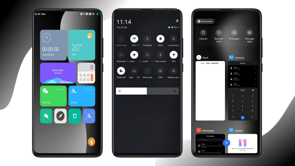 Wall Dark MIUI 11 Theme