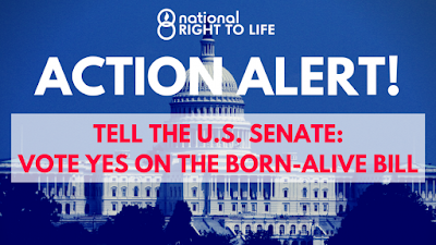 CALL TO ACTION: Call and Urge Your US Senators to Vote YES on the Born-Alive Abortion Survivors Act!