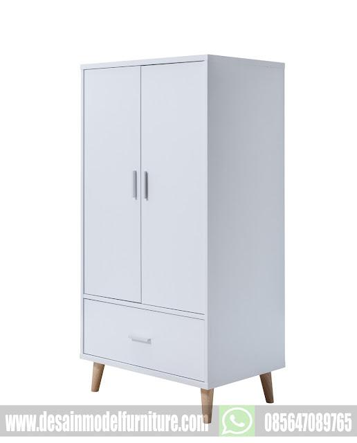 Gambar lemari pakaian minimalis cat duco putih