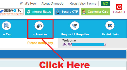 how to activate sms alert in sbi online