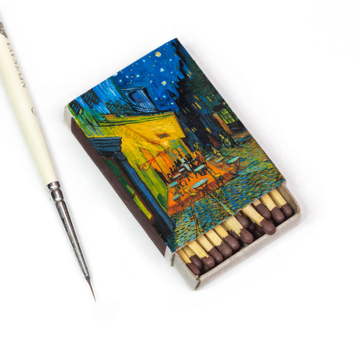 06-Café-Terrace-at-Night-Vincent-Van-Gogh-Salavat-Fidai-Салават-Фидаи-Miniature-Paintings-on-Matchboxes-and-Pumpkin-Seeds-www-designstack-co