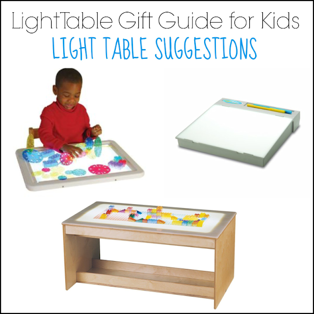 Light Table Gift Guide for Kids: Light Table Suggestions from And Next Comes L