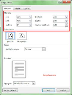 Cara Mengatur Margin di Microsoft Word 2007, 2010, 2013, 2016