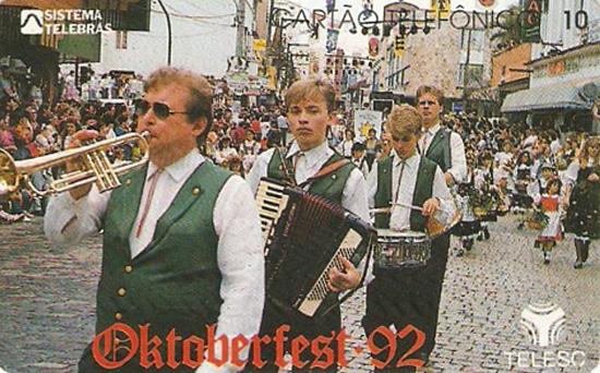 Cartão telefônico - Telesc - Oktoberfest 92