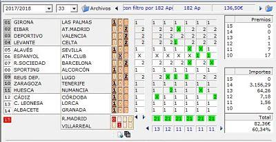 Quinielista , sistema de 11 Triples
