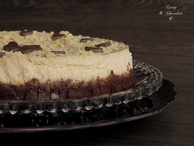 Tarta de queso  con sorpresa de dulce de leche – Cheesecake with dulce de leche