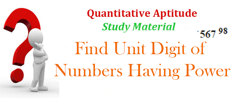 Find Unit Digit of Power Numbers