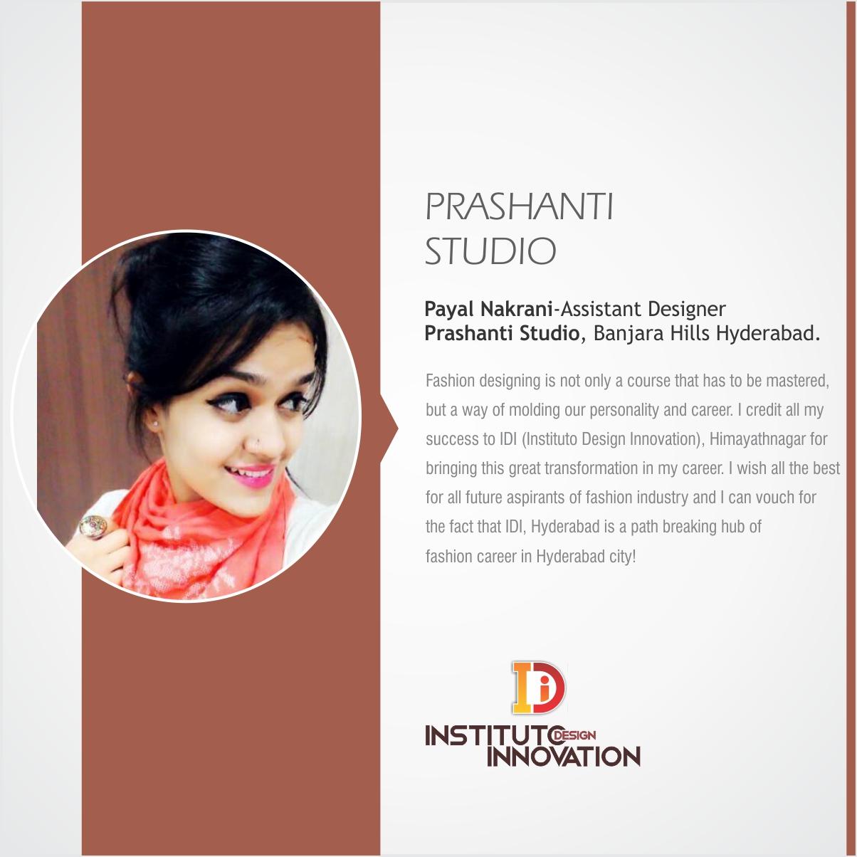 Payal Nakrani Assistant Designer