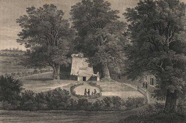 Krobielowice, mauzoleum, pogromca Napoleona, dawne zdjęcie