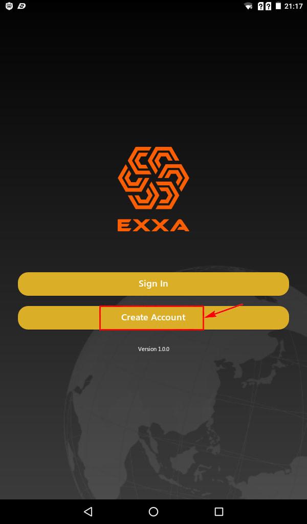Регистрация в EXXA Network 2