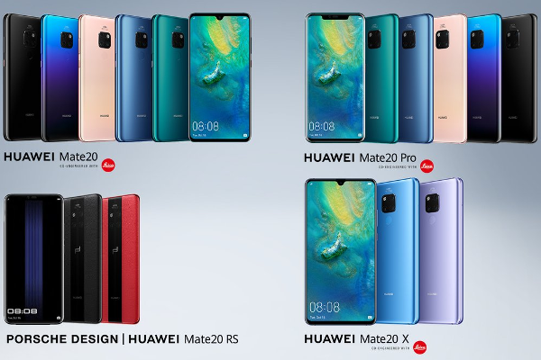 HUAWEI Mate 20, Mate 20 Pro, Mate 20 X and PORSCHE DESIGN Mate 20 RS goes official