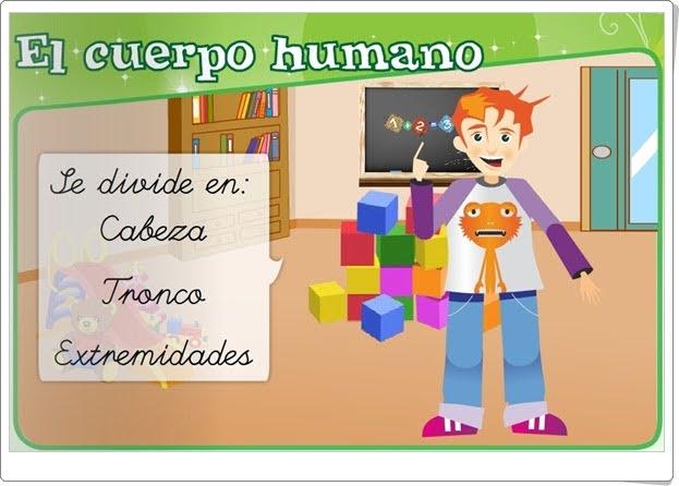 """""""El cuerpo humano"""" (Identidad y Autonomía Personal de Educación Infantil)"""