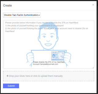 Formulir Create Ticket - Meminta bantuan Tim Support RESET Google Auth Hashnest - Romadhon-byar.blogspot.com