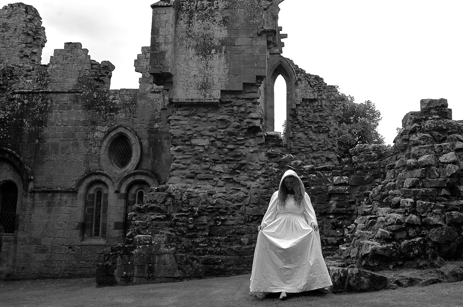Performance art in Dryburgh Abbey, Scotland