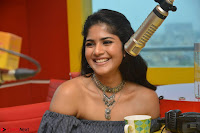 Mega Akash in a sleeveless Off Shoulder Cute Dress Stunnign beauty at Radio Mirchi Promoting Movie LIE ~ Celebrities Galleries 043.JPG