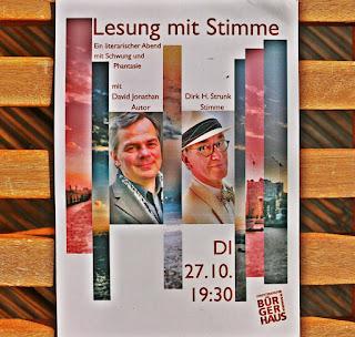 Lesung Hamburg, Lesungen in Hamburg, David Jonathan, Dirk H. Strunk, Schriftsteller, Vorleser