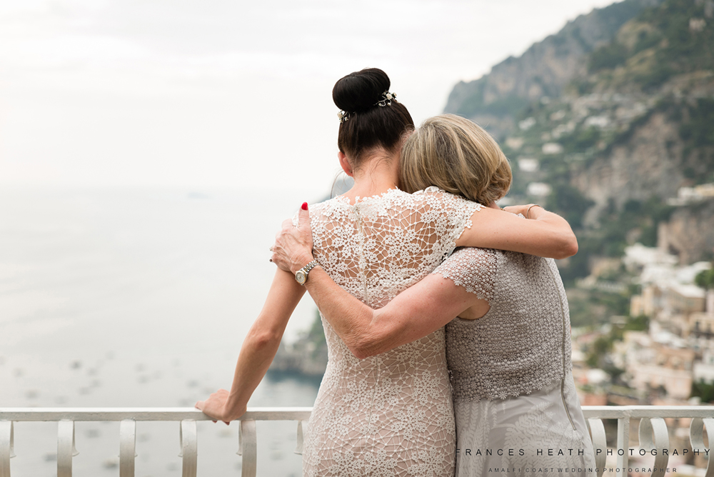 Bride with her mother at her wedding